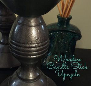 Wooden Candlestick Upcycle