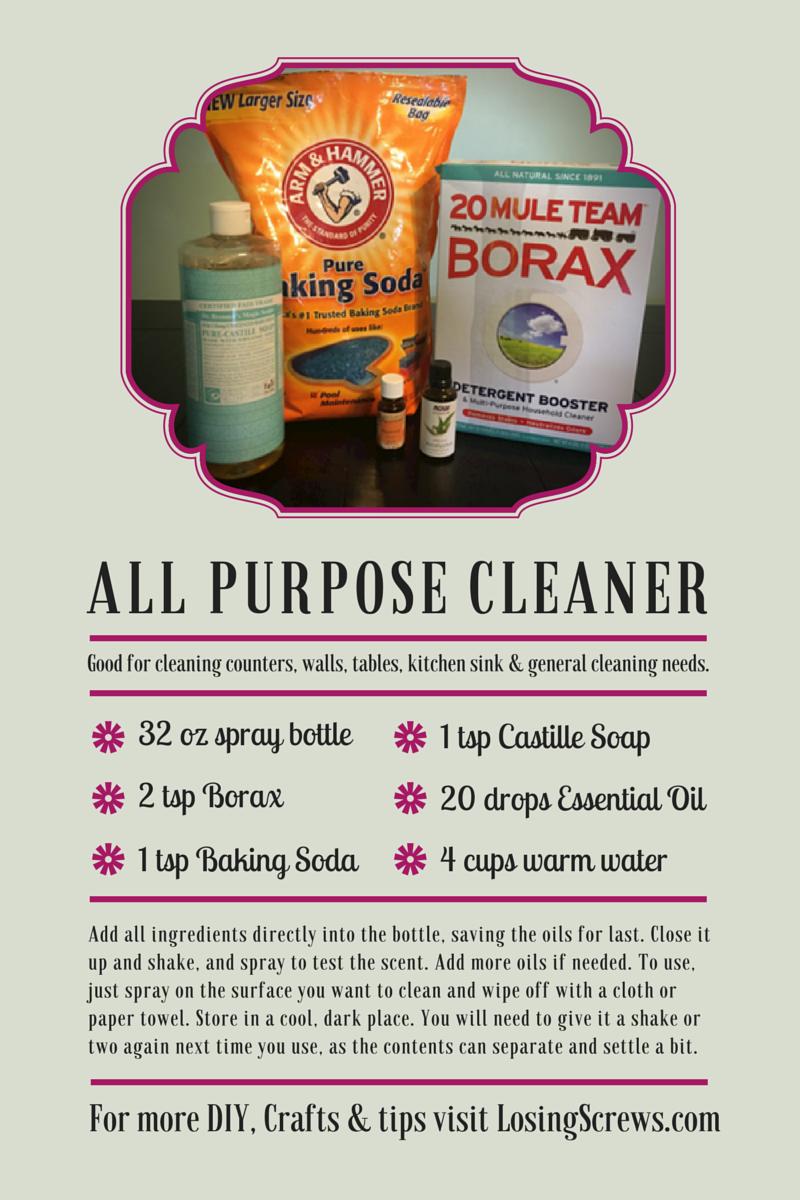 DIY All Purpose Cleaner | Losing Screws