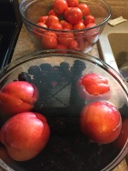 DIY Fruit & Veggie Wash Berries and Peaches