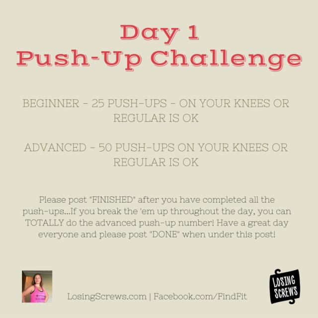 Day 1 Push-Up Challenge