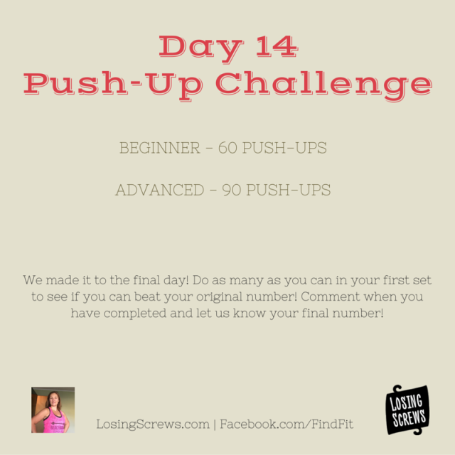 Day 14 Push-Up Challenge
