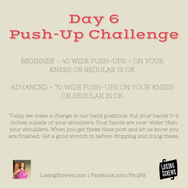 Day 6 Push-Up Challenge